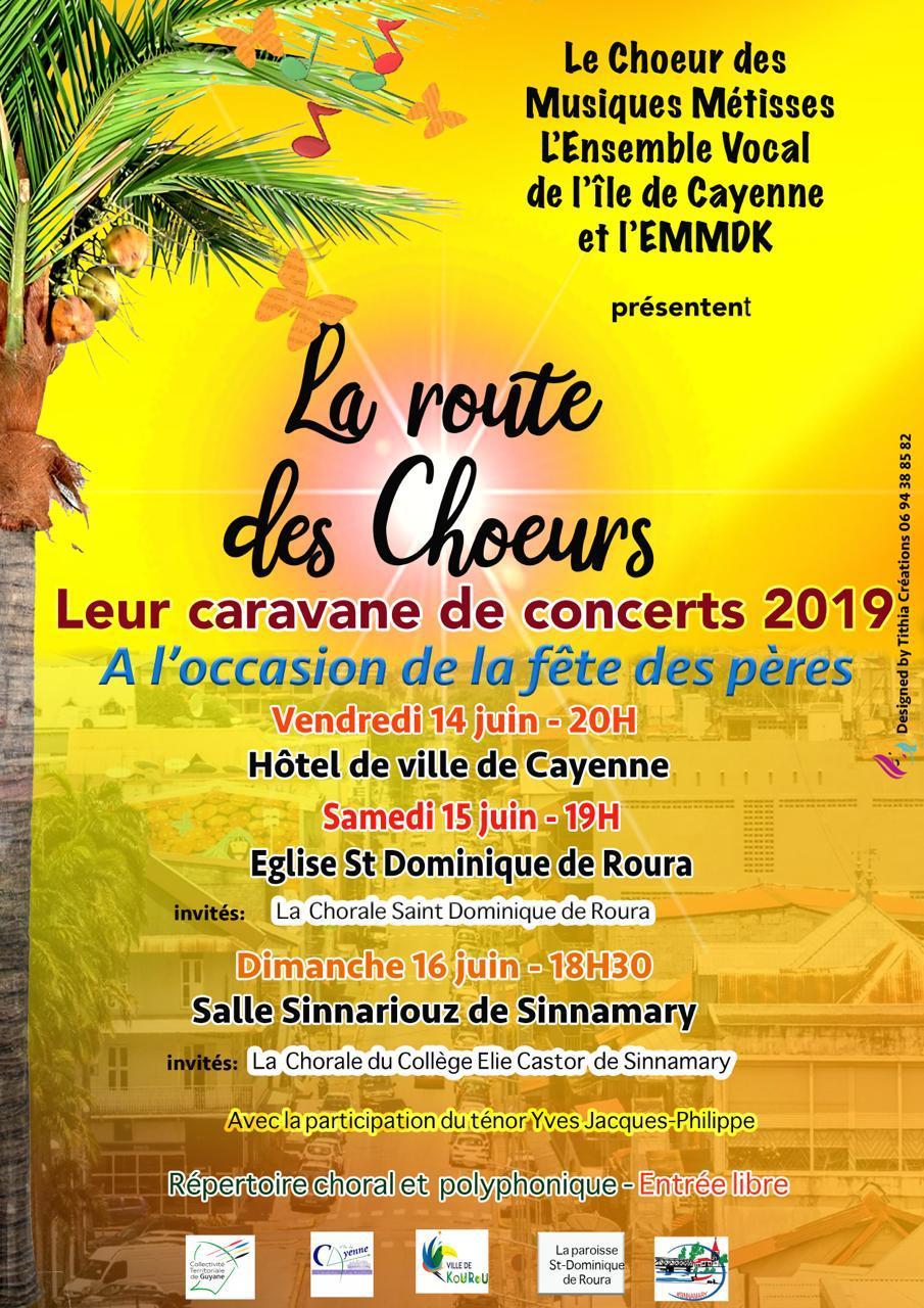 Le chœur des musiques métisses l'ensemble vocal de l'île de Cayenne et l'EMMDK