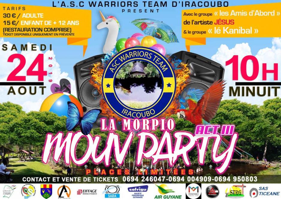 LA MORPIO MOUV PARTY A IRACOUBO