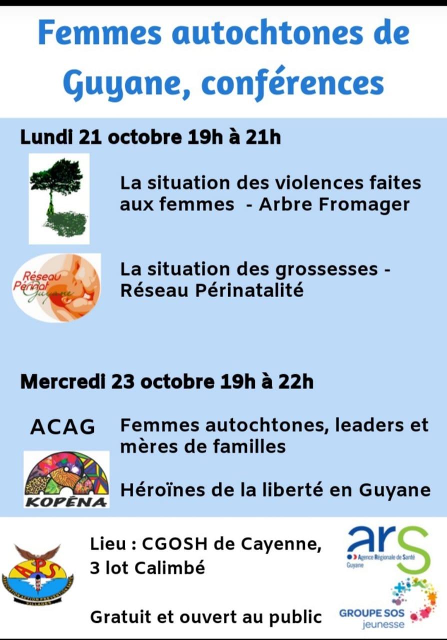 CONFÉRENCES FEMMES AUTOCHTONES DE GUYANE