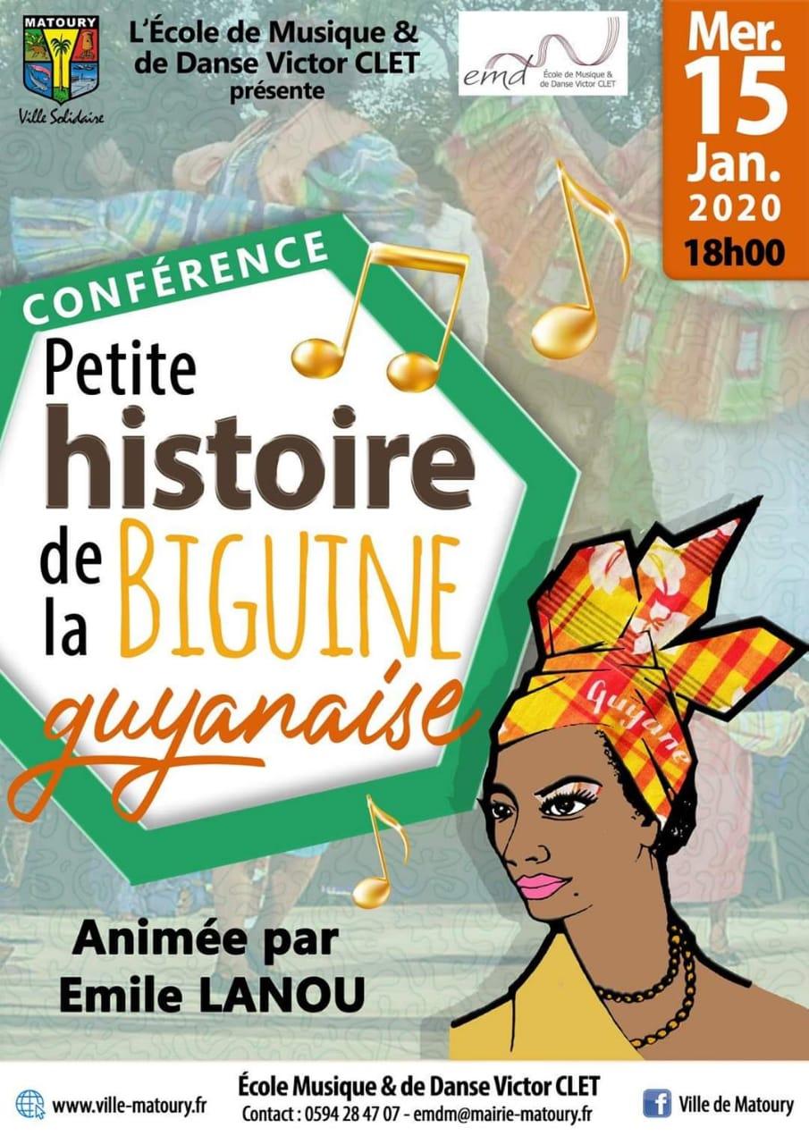 CONFÉRENCE PETITE HISTOIRE DE LA BIGUINE GUYANAISE