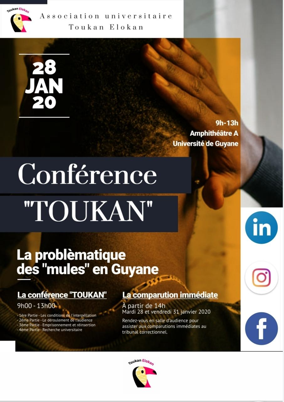 "CONFERENCE ""TOUKAN"" A L'UNIVERSITÉ DE GUYANE"