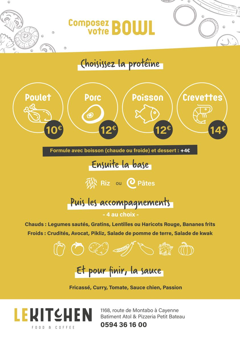 LE KITCHEN FAST FOOD A CAYENNE EN GUYANE FRANCAISE