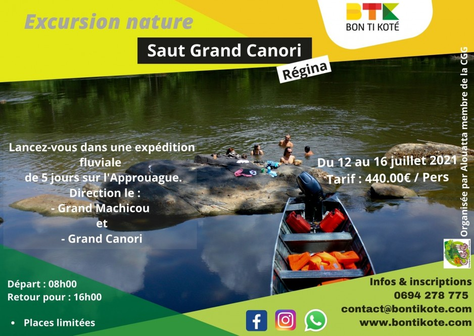 Excursion au saut grand Canori en Guyane
