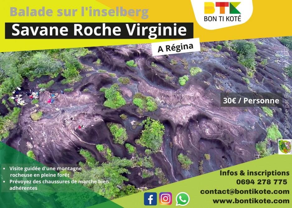 Balade sur l'inselberg de Savane Roche Virginie en Guyane