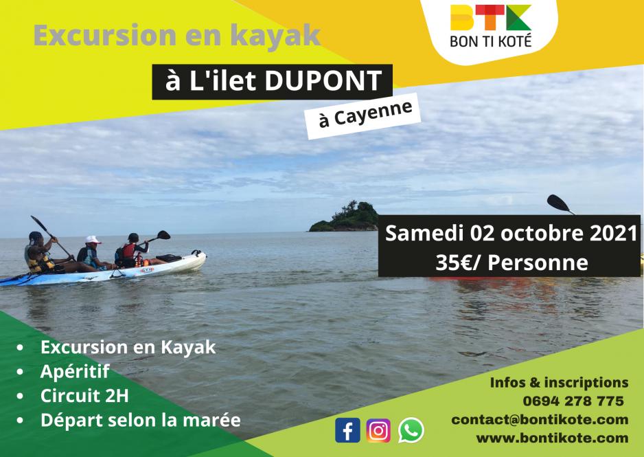 Excursion en kayak à l'ilet DUPONT à Cayenne