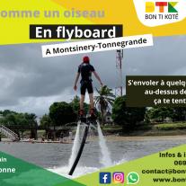 Le flyboard, activité nautique à Montsinery - Tonnegrande